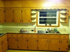 Old Kitchen Remodel Apartment Therapy kitchen remodel dark cabinets beams.Old Kitchen Remodel Apartment Therapy. Budget Kitchen Remodel, Galley Kitchen Remodel, Kitchen Cabinet Remodel, Kitchen On A Budget, Kitchen Ideas, Kitchen Decor, Kitchen Cabinets 1950s, 1950s Kitchen, Old Kitchen