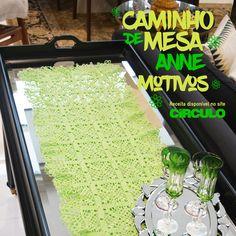 Decore sua casa com o caminho de mesa Anne Flores. Confira a receita clicando na imagem.