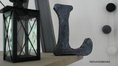 Comment faire une lettre decorative effet metal en polystyrène