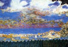 Pierre Bonnard, Cielo de tormenta sobre Cannes, 1945. Óleo sobre lienzo, 52 x 74.2 cm, Colección particular