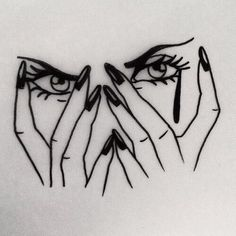 #cry #girl #woman #tattoo #eyes