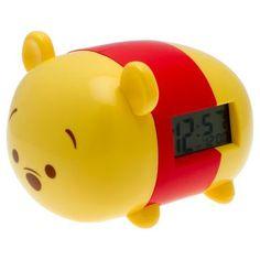 BulbBotz Disney Tsum Tsum Winnie the Pooh 7.5 in Light-up Alarm Clock - Yellow