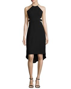 Halter Back-Cutout Cocktail Dress  by Halston Heritage at Neiman Marcus.