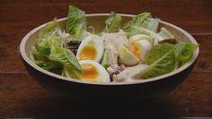 Caesar Salad with Soft Boiled Eggundefined
