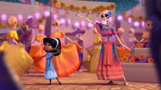 Dia de los Muertos Student Academy Awards 2013 Winner Short filmAn animated short film about a little girl who visits the land of the dead, where she learns the true meaning of the Mexican holiday, Movie Talk, Mexican Holiday, Film School, Movie Lines, Classroom Inspiration, Classroom Ideas, Film Stills, Animation Film, Design Reference