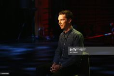 Host Benedict Cumberbatch is interviewed by CNN at the Shanghai Grand Theatre prior to the...