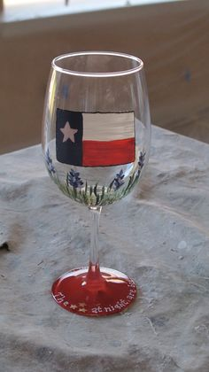 Texas Hand  Painted wine glass by TheSparkleFairies on Etsy, $15.00