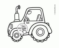 ausmalbilder, malvorlagen - traktor kostenlos zum
