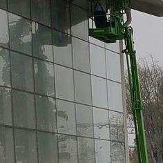 Lavado de ventanas exteriores en altura, Planta Cereales, Carozzi
