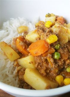 quick curry (thermomix) add gaps vegies and it was quick and easy to make all kids loved it. Healthy Eating Recipes, Healthy Cooking, Baby Food Recipes, Cooking Recipes, Healthy Meals, Healthy Food, Mince Recipes, Curry Recipes, Savoury Recipes