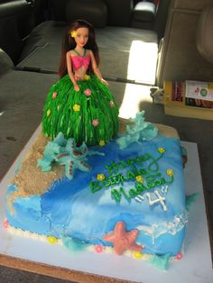 4th birthday luau barbie cake#Repin By:Pinterest++ for iPad#