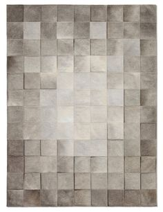 Park Heather Grey Cowhide Rug - Patchwork Cowhide Rugs