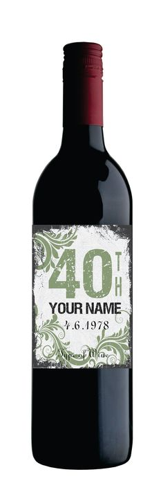 Customizable Text Wine Bottle Stickers by OrangeDesignStudio, $18.95