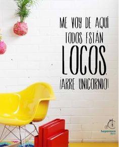 Vinilos Frase!, $95 en http://ofeliafeliz.com.ar/espacio/hayaresca   Medidas: 30cm x 40cm  Disponible en todos los colores