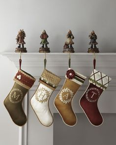 Of courese the only stockings I find that I like are $110 . . . EACH.  Monogram Initial Christmas Stockings at Horchow.