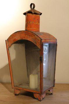 19th century tole lantern.. oh i love this!