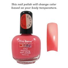 Great Deals Mia Secret Mood Nail Lacquer Color Changing Nail Polish Pink To Peach,
