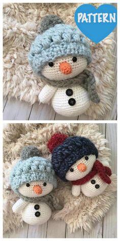 Amigurumi snowman free pattern – Free Amigurumi Patterns Crochet Amigurumi Free Patterns, Crochet Animal Patterns, Crochet Patterns Amigurumi, Crochet Dolls, Crochet Christmas Decorations, Christmas Crochet Patterns, Holiday Crochet, Christmas Crafts, Cute Crochet