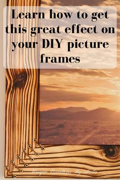 This step by step tutorial will show you how to make this unique Shou sugi ban picture frame. This wood burning technique is awesome. Small Wood Projects, Cool Woodworking Projects, Diy Furniture Projects, Woodworking Tips, Diy Craft Projects, Upcycling Projects, Crafts, Project Ideas, Rustic Wood Decor