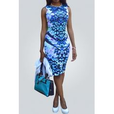 USD7.99 Polyester Fashion O neck Tank Sleeveless Sheath Mini Dresses