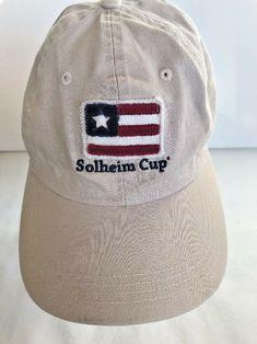b2f6095cc9f Solheim Cup Colorado Golf Club 2013 Tan Snap Back Baseball Hat  HEAD   BaseballCap Hat