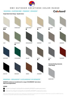 Dmv Outdoor Solutions Colorbond Colours Chart Beams
