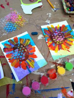 Flower art for kids project work projector lights projects projects diy projects for kids projects for schools projects for toddlers projects nt projects uk projects using pvc pipe projects with wine bottles projects with wood Spring Art Projects, Art Projects For Adults, Crafts For Kids, Children's Arts And Crafts, Art Projects For Kindergarteners, Garden Projects, Fun Art Projects, Art Education Projects, Art Education Lessons