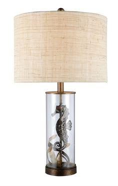 Brass Largo Seahorse Table Lamp