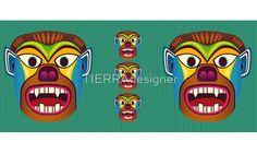 Gorilla ethnic mask mug