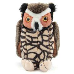 Plush Great Horned Owl Audubon Bird With Sound By Wild Republic Audubon Birds, Great Horned Owl, Stuffed Toy, Little Birds, Bald Eagle, Safari, Plush, Small Birds, Plushies