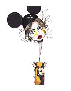 illustration by Jamie Lee Reardin Croquis Fashion, Fashion Sketches, Cute Illustration, Watercolor Illustration, Fashion Artwork, Fashion Figures, Whimsical Art, Face Art, Illustrators