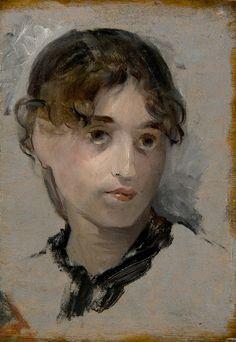 'Selbstportrait', malen von Eva Gonzales (1849-1883, France)
