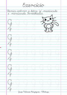 Blog Educação e Transformação: 👍Caligrafia: alfabeto e números Cursive Writing Worksheets, Homeschool Worksheets, Cursive Alphabet, Tracing Letters, Kids Hands, Preschool Learning, Hand Lettering, France, Reading