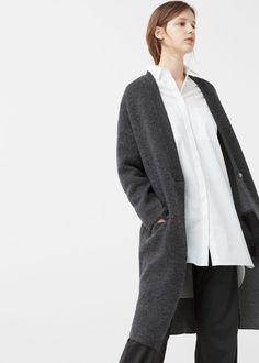 Gemêleerd wollen vest - Vesten en truien voor Dames | MANGO Nederland