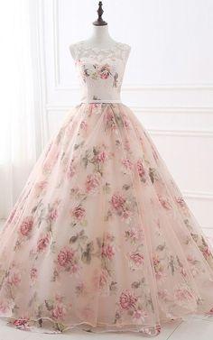 Vivian a noiva querida vestido de baile vestido de noite tanque sem mangas vestidos de festa A - women Dress - Gowns Long Prom Gowns, Ball Gowns Prom, Ball Dresses, Party Gowns, Party Dress, Short Prom, Prom Party, 15 Dresses, Pink Ball Gowns