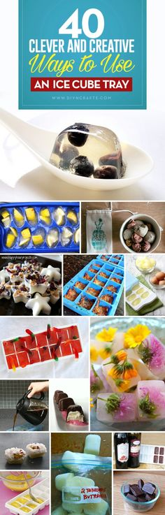 40 Clever and Creative Ways to Use an Ice Cube Tray - Plastic or silicone ice cube trays will cost you about a dollar for three and you may be amazed at what you can actually do with them. Many people today have automatic ice makers in their fridge so tho Ice Cube Trays, Ice Cubes, Ice Tray, Cocinas Kitchen, Ice Molds, Coconut Cupcakes, Recycled Crafts, Diy Crafts, Ice Makers