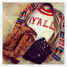 perfect fall outfit for any cowgirl.