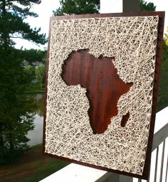 Africa String Art/ Africa Art/ Map of Africa by DistantRealms on Etsy https://www.etsy.com/listing/247632087/africa-string-art-africa-art-map-of