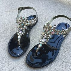 Today only--Black jelly sandals New .. True to size trades holds ⚠⚠️️firm on price unless bundling⚠️⚠️ Shoes Sandals