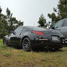 Nice 350z! #protecautocare #engineflush #nissan #350z #black #custom #rims #tinted #carrepair #nofilter #followus