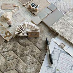 Handmade Designer Rugs #MoodBoardIdeas #MoodBoardDesign See more inspirations at http://www.brabbu.com/en/inspiration-and-ideas/
