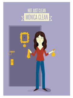 Poster FRIENDS. Monica Geller