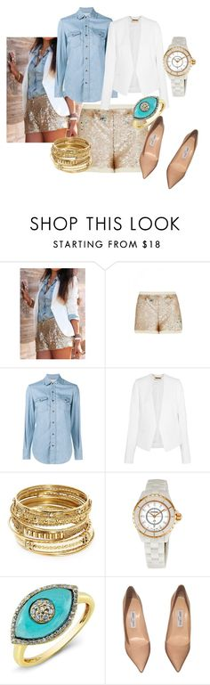 """sequin shorts"" by olia7805 on Polyvore featuring sass & bide, Yves Saint Laurent, MICHAEL Michael Kors, ABS by Allen Schwartz, Chanel and Jimmy Choo"