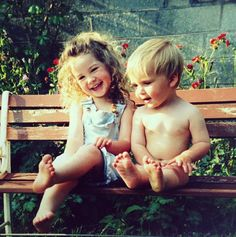 Zoe and Joe Sugg (Zoella and ThatcherJoe) when they were younger!!! :)