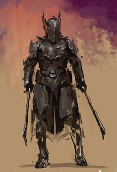 m Fighter Plate Armor Helm Dual Longswords male Wilderness Minion of the Reaper lg Fantasy Concept Art, Fantasy Armor, Fantasy Character Design, Dark Fantasy Art, Character Design Inspiration, Character Art, Medieval Armor, Medieval Fantasy, Dnd Characters