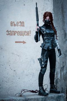 winter soldier fem bucky barnes cosplay - Google Search                                                                                                                                                     More