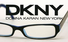 highly fashionable dkny glasses black outer frame and blue inside