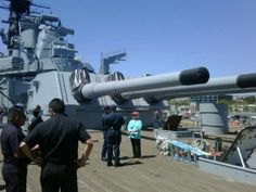 USS Iowa 16 inch guns
