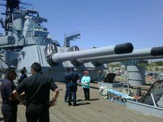 USS Iowa 16 inch guns