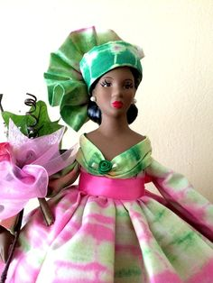 African American Handcrafted Porcelain Doll In by DivineAngelShop, $59.00